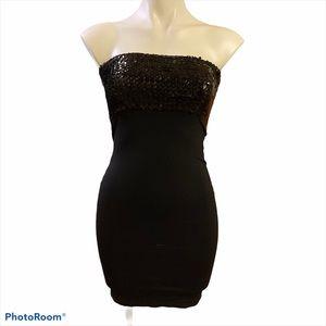Asos black sequins tube dress
